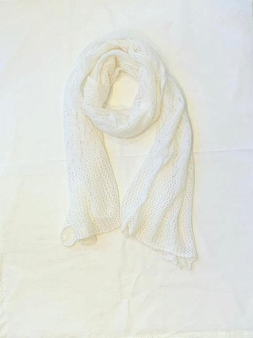 AUDREY WHITE SCARF