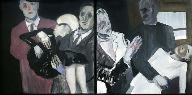 Dying Lover oil on canvas, 30cm x 30cm each