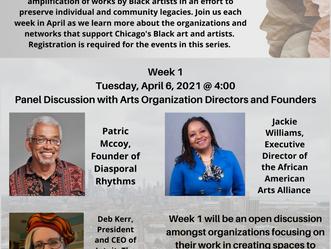 April 6 at 4pm Conversations on Black Art, Community & Legacy