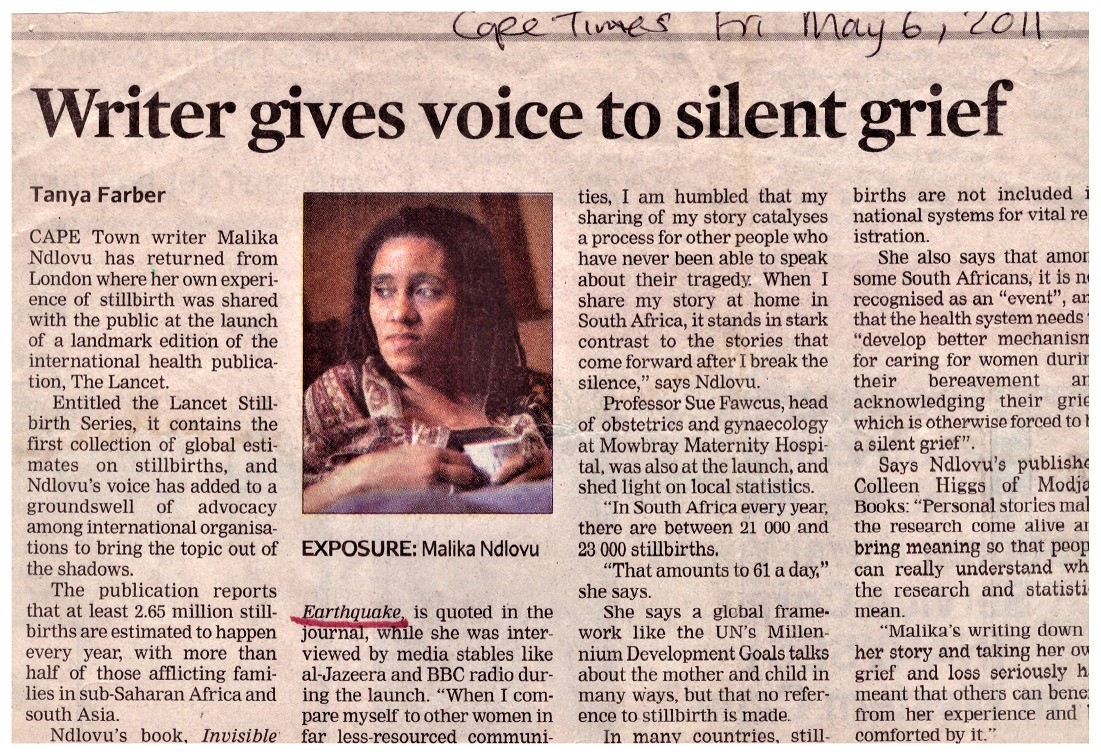 Writer gives voice to silent grief