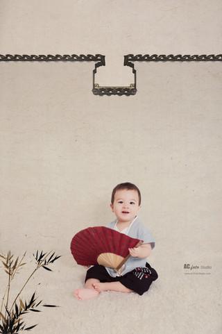 布里斯班黄金海岸室内工笔画民国风中国风家庭照全家福宝宝照周岁纪念留影摄影工作室哪里拍宝宝写真