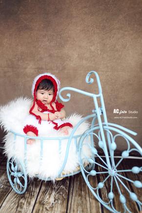 布里斯班黄金海岸新生儿满月照百日照摄影工作室100天宝宝儿童摄影