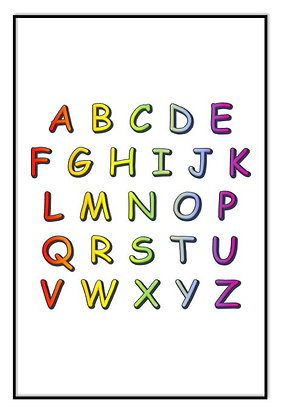 Rainbow Alphabet Print