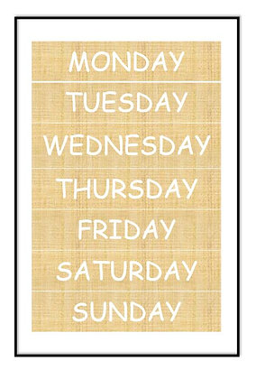 Bamboo Days of the Week Print