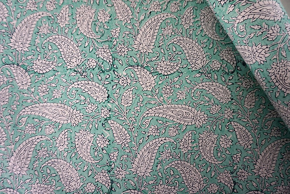 5 Sheets Paisley- Handmade Cotton Wrapping Paper