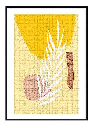 Yellow Cement Print