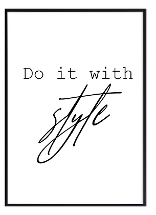 Do it with style print