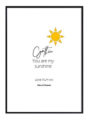 Personalised Sun Colour Print