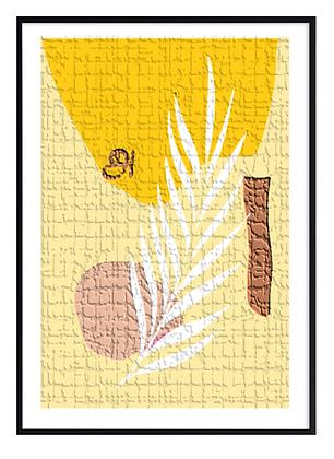 Yellow Tamil Cement Print