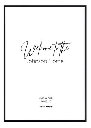 Personalised Welcome to  Print
