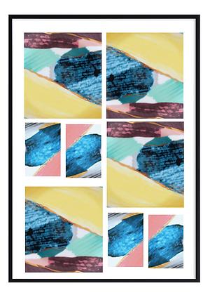 Abstract Mosaic Print