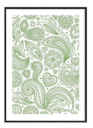 Green Happiness Print