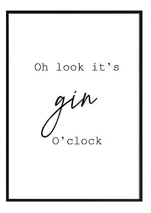 Gin o'clock large Print