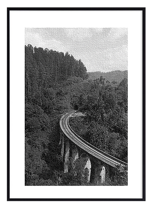 B&W Nine Arches Bridge Print