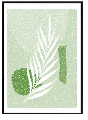 Green Lino Print