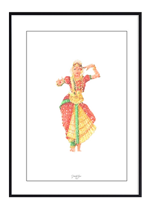 Bharatanatyam Print
