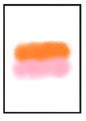 Abstract Orange and Pink Print