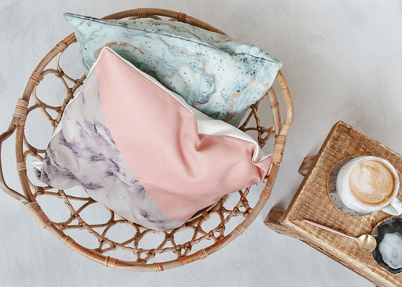 Marble & Pink Cushion Cover