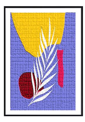 Violet Cement Print