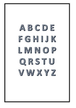 B&W Alphabet Print