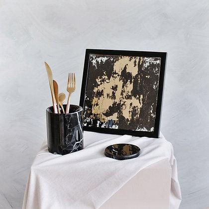 Original Black & Gold Acrylic Canvas