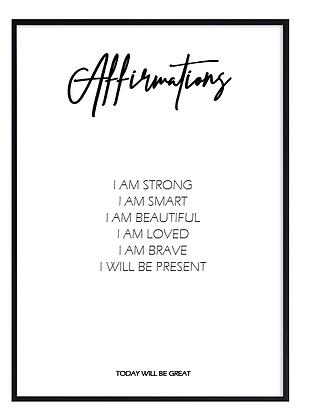 Affirmations Print
