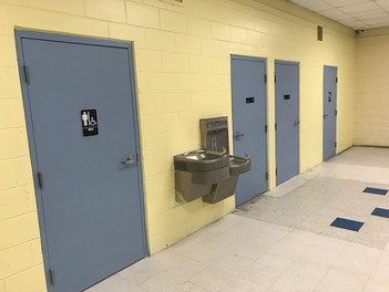 Four separate rooms and reinstalled hydration station