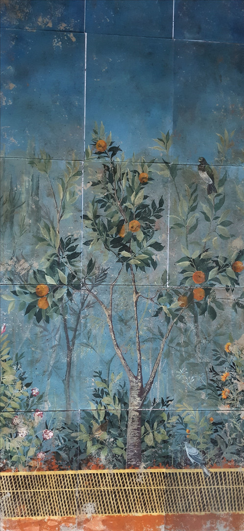 Panneaux peints en fixé sous verre - Demeure privée en Sicile