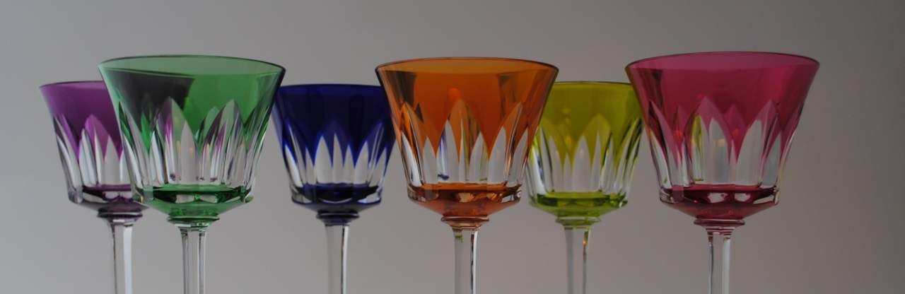 verres du Rhin de couleur Baccarat 1 - o