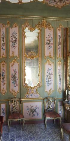 Boiseries peintes - Un palais en Sicile