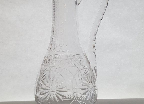 Aiguière en cristal taillé