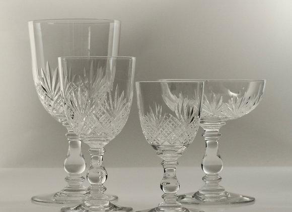Service en cristal taillé de Baccarat XIXème siècle