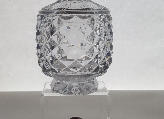 Carafe cristal et argent.