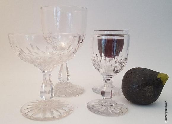 Service en cristal taillé 19ème siècle