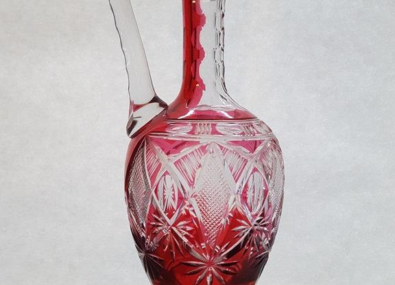 Aiguière en cristal doublé rouge