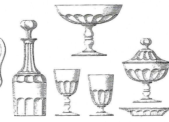 """Forme """"Gondole double balustre taillé cotes plates simples"""" cat Baccarat 1897"""