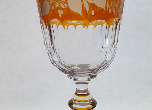 Verre en cristal ambre