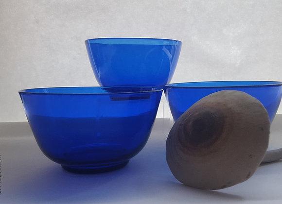 Coupelles bleues