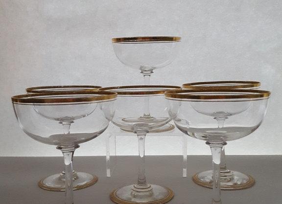 Série de 6 coupes à champagne de Baccarat