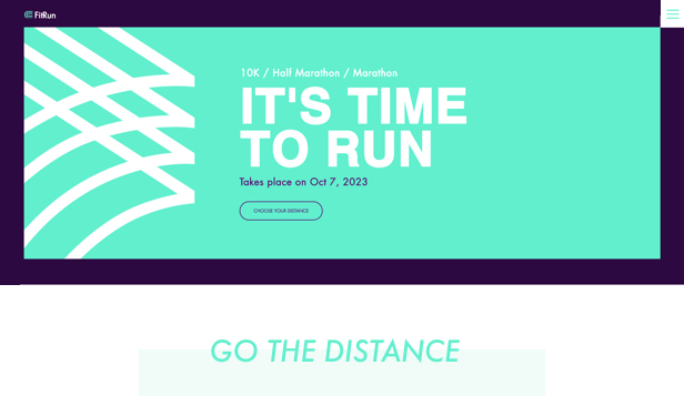 Events website templates – Marathon Event