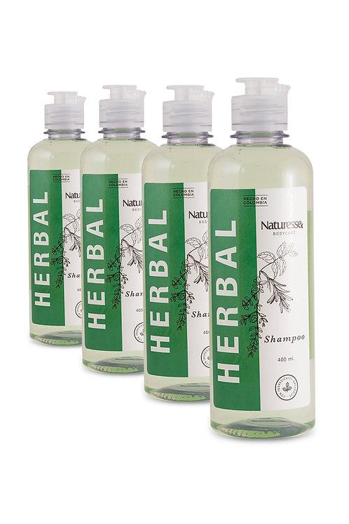 12 unidades - Shampoo Herbal