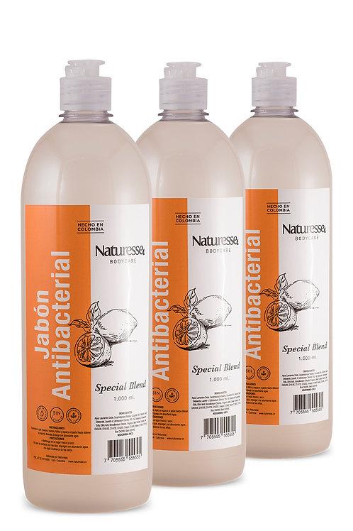 12 Unidades - Jabón líquido antibacterial (1 Litro)