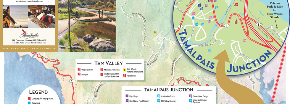 Tam Vally Map - A side