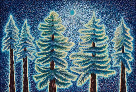 Tree Line Night Energies