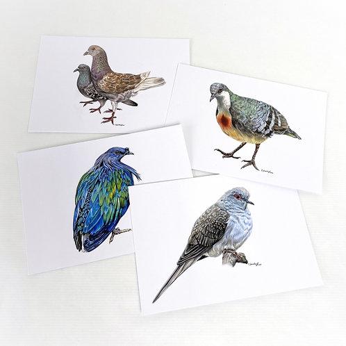 Postkartenset Tauben