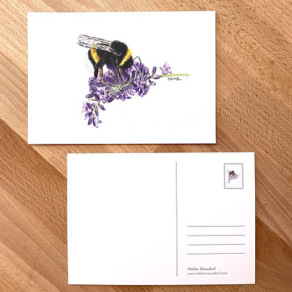 Postkarte Hummel