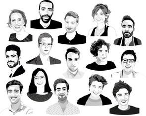 Portretten voor De Vrijdaggroep