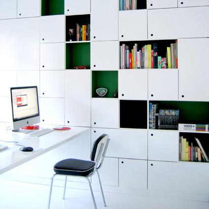 Ontwerp en uitvoering bureaumeubels Studio Waanzin