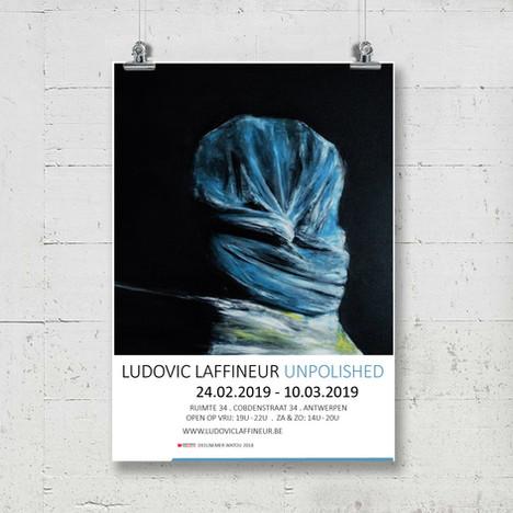 Poster voor tentoonstelling Ludovic Laffineur