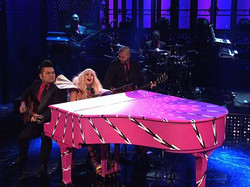 SNL wrapped piano for Lady Gaga